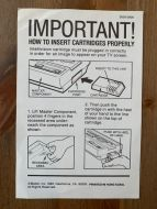 How to Insert a Cartridge brochure