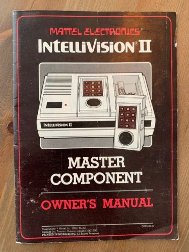 Intellivision II - French Canadian Manual