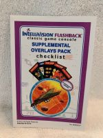 Intellivision Flashback Supplimentary Overlay Pack kit - Manual only