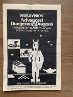 Advanced Dungeons & Dragons : Treasure of Tarmin - Intellivision inc. Manual Only