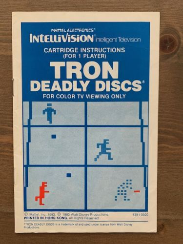 TRON : Deadly Discs - HK (Blue) Manual only