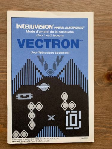 Vectron - French Canadian Manual Only
