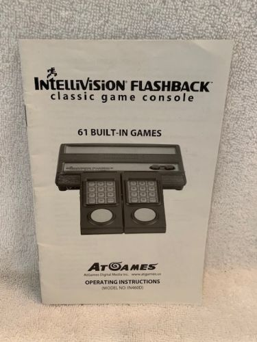 Intellivision Flashback Console Manual (61 Games Version)